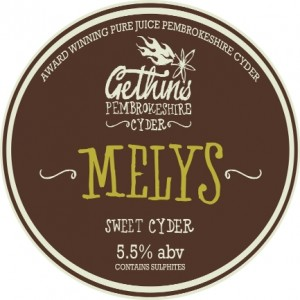 Gethins Barrel Label Melys1